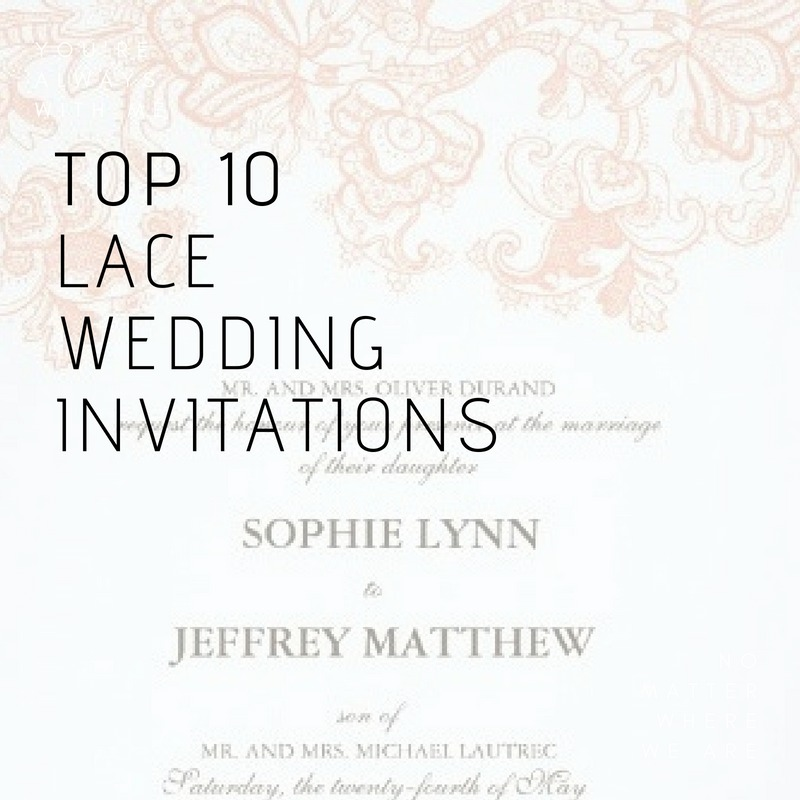 most popular lace wedding invitations