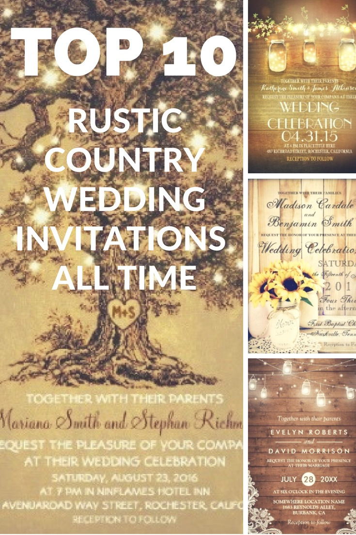 most popular rustic country elegant wedding invitations