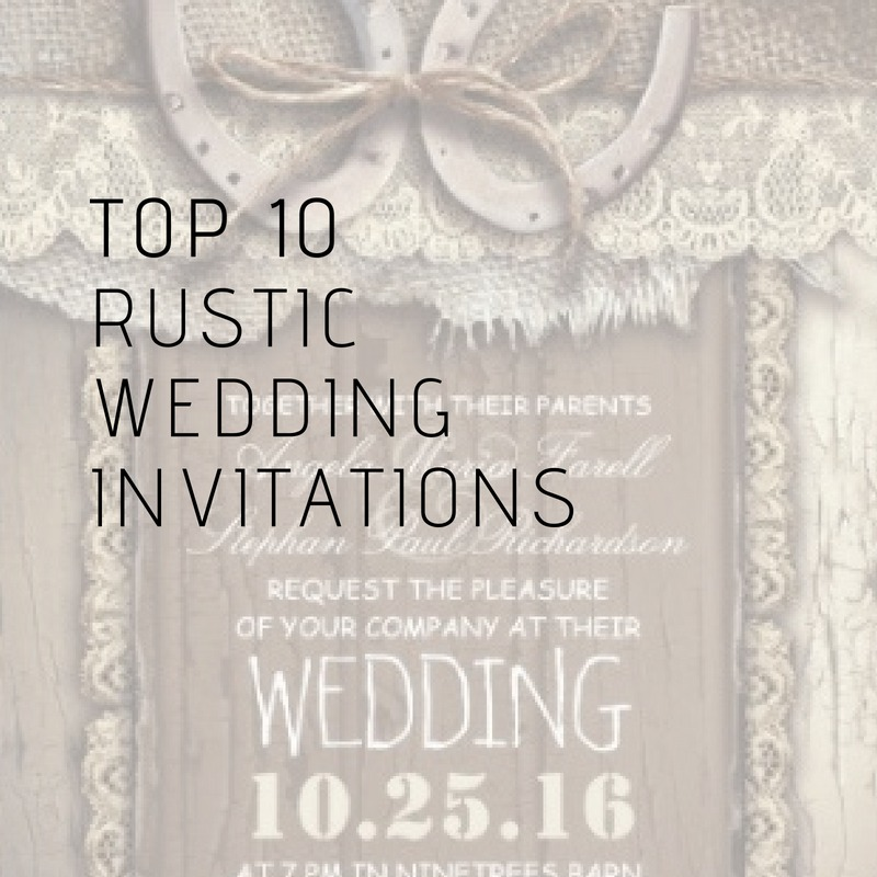 Best Wedding Invitation Sites: TOP 10 Popular Rustic Wedding Invitations